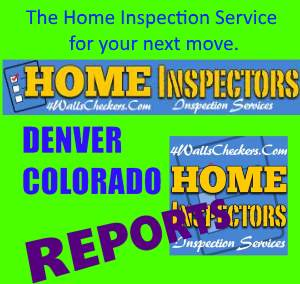 Image which shows an ad from our sponsor for the 4WallsCheckers Home Inspection Service, Denver, Co