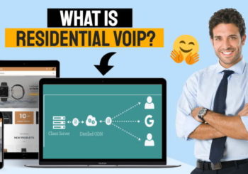 Image in which text which asks the question : What is Residential VoIP?